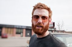 """""""There is always a period when a man with a beard shaves it off. He returns headlong to his beard. Red Beard, Ginger Beard, Ginger Gene, Redhead Men, Thick Beard, Perfect Beard, Hottest Redheads, Beard Tattoo, Man Bun"""