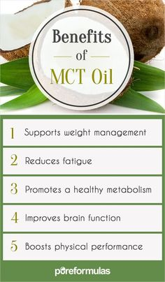 What is MCT oil? MCT stands for medium chain triglycerides. Triglycerides are fats, and MCT's are fats of medium length. These fats are easily consumed by your body and have been proven to potentially reduce the likelihood of obesity. Mct Oil Benefits, Lemon Benefits, Benefits Of Coconut Oil, Health Benefits, Mtc Oil, Sante Bio, Coconut Oil Weight Loss, Speed Up Metabolism, Thing 1