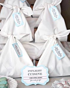 stork express airlines baby shower lunches -- adorable!