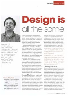 What's the difference between designing kitchens and bathrooms? As someone who has designed both, our Glasgow franchisee Duncan Heeles is a good man to ask! Read this month's K&B News magazine for all the answers!   #BAGNODESIGN #KBB #magazine #Headlines #kitchens #Bathrooms #bathroomdesign #design #kitchendesign #interiordesign #designtips #designtrends #UK #Glasgow BAGNODESIGN Glasgow
