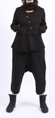 rundholz black label - Hose Tweed bonded black - Winter 2016