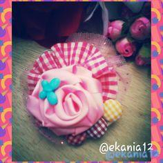 Happy Pink Rose Brooch ^^