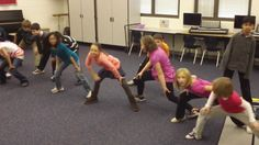 "Fourth graders created their own choreography for some of the dances from Act II of Tchaikovsky's ""The Nutcracker"" ballet. Here is Mrs. John's class with ""Russian…"