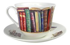 This book lover's bone china teacup and saucer set makes a great gift for the avid readers on your holiday list.