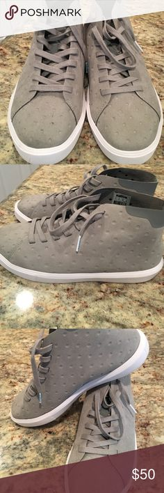 ❗❗❗Women's gray size 39 native shoes like new. As seen at Nordstrom, these high top shoes are comfy and light. Heather gray. They are 39 and fit an 8-8.5. If you know your size in natives, these are a 39. Native Shoes