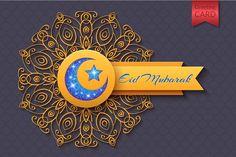 Eid Mubarak Abstract Greeting Card - Illustrations