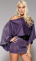 Off the shoulder Dress by ForPlay In Purple or Pink