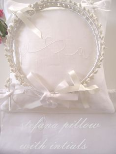 Stefana pillow with intials Orthodox Wedding, Greek, Pillows, Etsy, Cushions, Pillow Forms, Greece, Cushion, Scatter Cushions