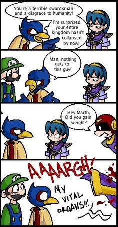Fan Art of Sensitivity for fans of Super Smash Bros. Video Games Funny, Funny Video Memes, Funny Games, Bad Memes, Super Smash Bros Memes, Nintendo Super Smash Bros, Awkward Zombie, Persona 5 Anime, Star Fox