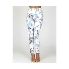 Oriental Floral Zip-front Trousers found on Polyvore