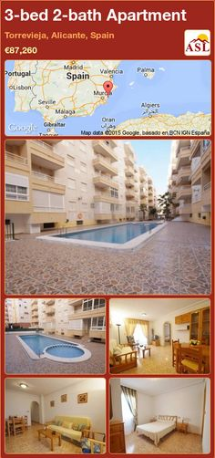 Apartment for Sale in Torrevieja, Alicante, Spain with 3 bedrooms, 2 bathrooms - A Spanish Life Apartments For Sale, Valencia, Torrevieja, Alicante Spain, Fitted Wardrobes, Bus Station, Entrance Hall, Shopping Center