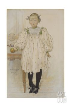 Martha Winslow as a Girl, 1896 Giclee Print by Carl Larsson at Art.com