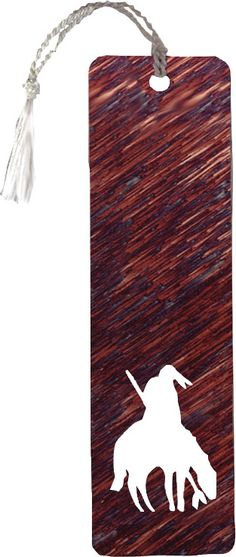 End of Trail Reverse Cut Bookmark Tassel Bookmark, Scroll Saw, Wall Signs, Bookmarks, Nativity, Native American, Rustic, Wall Art, Metal
