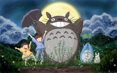 """A production still from one of my favorite films, """"My Neighbor Totoro"""" (となりのトトロ - Tonari no Totoro), a 1988 Japanese animated fantasy written and directed by Hayao Miyazaki and produced by Studio Ghibli..."""