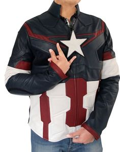 889f448f31768 Online Buy Captain America Jacket for men. Spectacular look for the young  ones
