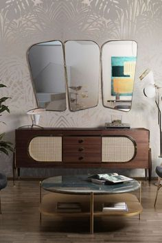 Dandy sideboard by Essential Home is inspired heavily on a perfect combination between the Scandinavian design and the mid-century style. With its design that resembles a kitsch radio due to the grill cloth on the doors and its exciting shape, this sideboard is certainly a vintage piece that can't be forgotten. know all about it in the article!