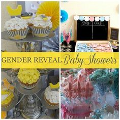 Amazing Gender-Reveal Baby Shower Ideas & Printables  #babyshower #genderreveal