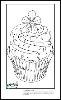 Cute Cupcake Coloring Page Cookie Pinterest Coloring books