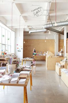 Bright airy shop! Someday Whimseybox HQ will look like this :)