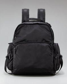 Nylon Backpack by Prada at Neiman Marcus. Neiman Marcus, Prada, Fashion Accessories, Menswear, Backpacks, Mens Fashion, Handbags, Zip, My Style