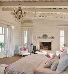 large bright shabby chic bedroom
