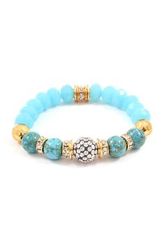 turquoise and pave and gold