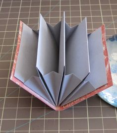 Expandable file book based on Hedi Kyle's Blizzard Fold by Gina Pisello