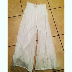 White beach cover up pants One size Swim Coverups