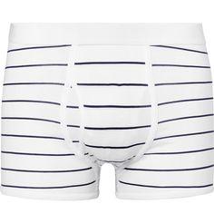 4915e57aa29c HANDVAERK STRIPED PIMA COTTON-JERSEY BOXER BRIEFS. #handvaerk #cloth # Men's  Briefs
