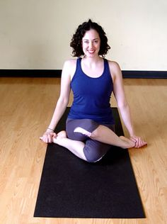Cow-Face Fold (Gomukhasana) This is one of my favorite poses! It's incredibly effective for stretching the piriformis, a small, hard-to-stretch muscle deep in your glutes, as well as your hips and IT band. The piriformis tends to become tight in runners.