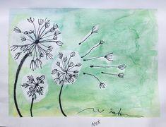 Easy Flower Painting, Flower Art, Art Flowers, Easy Art For Kids, Spring Art Projects, 2nd Grade Art, Nature Drawing, Teaching Art, Teaching Ideas