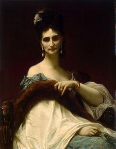 Hand-painted Portrait Oil Painting - Countess de Koller  $99.99  http://www.oilpaintingsstore.com/hand-painted-portrait-oil-painting-countess-de-koller.html#