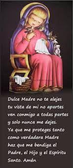 dulce madre oracion catolica - Buscar con Google