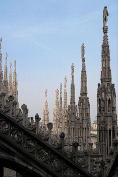 Milan Cathedral in Piazza del Duomo, Milano (Italy)..