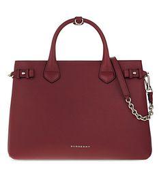 BURBERRY Banner Chain Leather Shoulder Bag. #burberry #bags #shoulder bags #hand bags #leather #