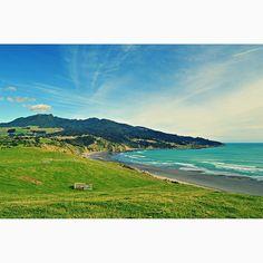 Raglan's main beach (New Zealand)