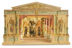 "German ""Renaissance"" toy theater, appeared in the 1891 J.F. Schreiber catalog."