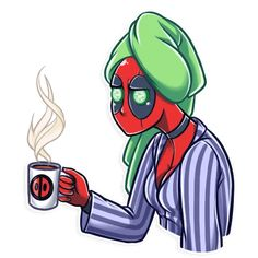 Sticker pack of Lady Deadpool Marvel Dc, Marvel Comics, Deadpool Stickers, Easy Crafts To Sell, Lady Deadpool, Telegram Stickers, Kawaii, Birthday Greetings, Funny Lady