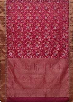 Chanderi Silk Cotton Saree CHA1SAR110 PINK SI-KO CHANDERI ZARI ... : cotton warp quilt - Adamdwight.com