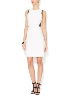 Ponte Dress with Contrast Mesh Accents by Firth at Gilt