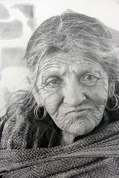 PENCIL DRAWING-Scottish artist Paul Cadden crafts meticulous hyper-realistic portraits from pencil and graphite. Of his art, he says: 'The art created from the photo is used to create a softer and much more complex focus on the subject depicted, presenting it as a living tangible object'. Indeed, if you didn't know better, you'd swear they were photographs. But they're not. Remarkable.
