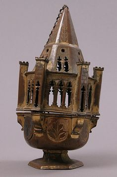 Censer  Date: 15th century Culture: Italian Medium: Copper-gilt, champlevé enamel