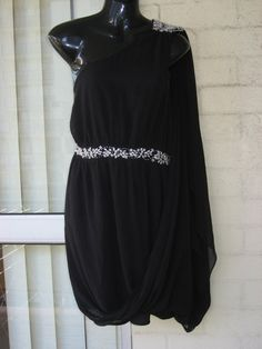 LAST DAYS...Vintage  Stunning 90s Black Chiffon One by GlamourZoya, $59.00