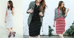 Casual Tshirt dress?! Yes please! Super easy to style and only $18.99! You need one in your life!
