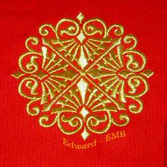 Buy gold ornament design for embroidery. Payment Paypal.
