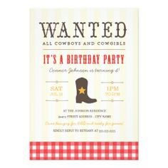 Yeehaw! Cowgirl party invitation