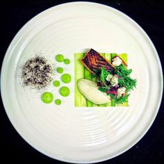 Torched Fjord trout, trout mousse, compressed cucumber
