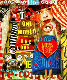 Love Trumps Hate! © Beth Todd - All Rights Reserved Crowabout StudioB's  'Spirit Art Mini Element Pack' MischiefCircus.com.  Digital image kits for your art, collage, mixed media art and scrapbooking. #photomanipulation #digital #art #scrapbook #collage