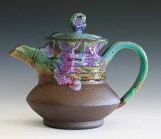 Twisted Teapot Handmade Stoneware Teapot by ocpottery on Etsy