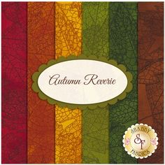Autumn Reverie 6 FQ Set by Sue Zipkin for Clothworks Fabrics: Autumn Reverie is a beautiful fall collection by Sue Zipkin for Clothworks Fabrics. This set contains 6 fat quarters, each measuring approximately 18 Shabby Fabrics, Fall Collections, Country, Autumn, Quilts, Fat Quarters, Beautiful, Baby Dolls, Scrappy Quilts